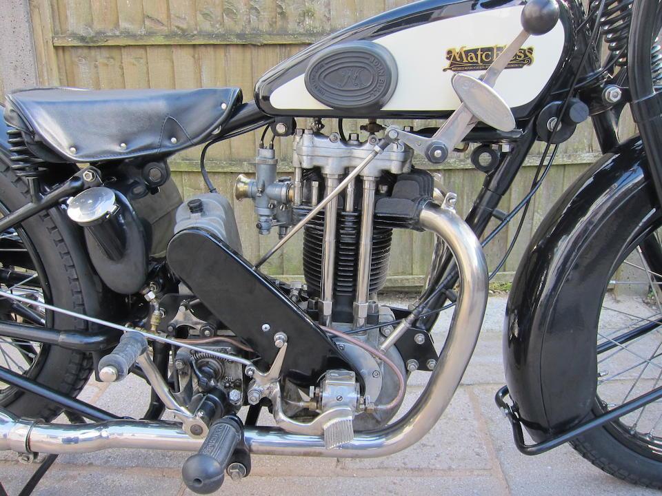 1928 Matchless 495cc V/2 Super Sports Frame no. 7883 Engine no. V/2 1091