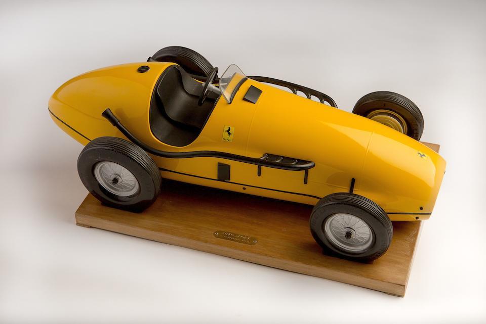 A model of Jacques Swaters' Ferrari 500F2,