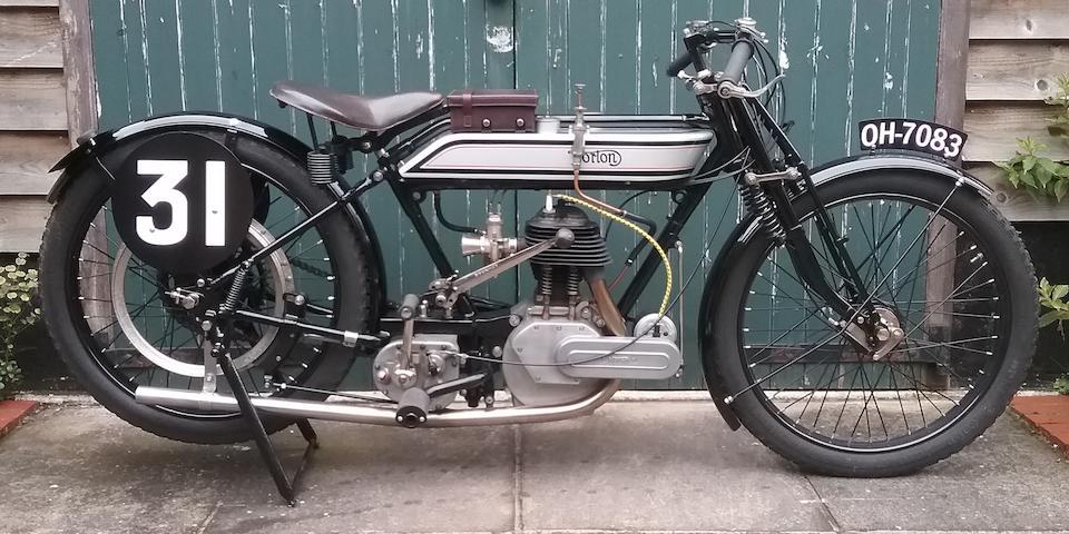 Ex-J Shaw, 1921 TT,1921 Norton 490cc Model 16H Racing Motorcycle Frame no. 3595 Engine no. 6173