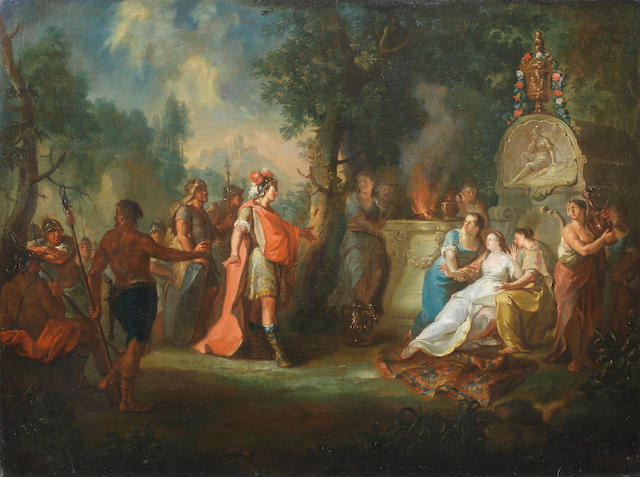 German School, 18th Century Cyrus and Panthea (?)