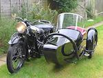 1937 Brough Superior 1,096cc 11-50hp Motorcycle Combination Frame no. M8/1854 Engine no. LTZ/F 57029/SN