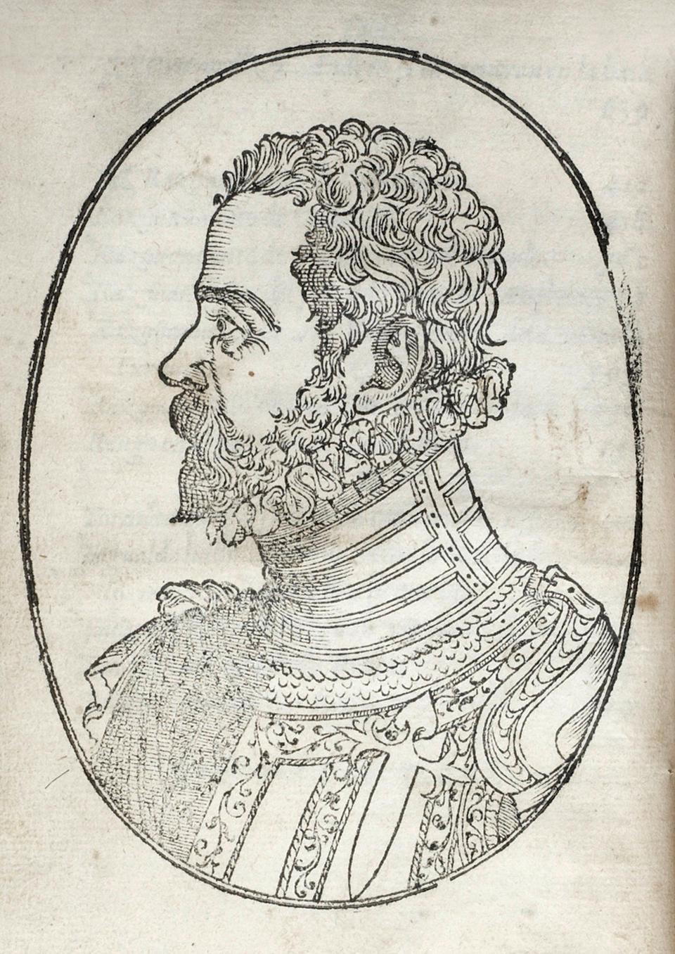 ERCILLA Y ZUNIGA (ALONSO DE) Primera y segunda parte de la Araucana, 2 parts in 1 vol., FIRST EDITION TO INCLUDE PART 2, Madrid, Pierre Cosin, 1578