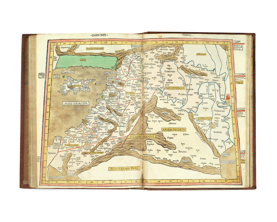 PTOLEMAEUS (CLAUDIUS) Cosmographia [translated from Greek into Latin by Jacobus Angelus; edited by Nicolaus Germanus], Ulm, Johann Reger for Justus de Albano, 21 July 1486