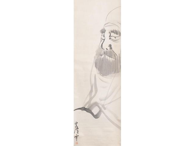 Nagasawa Rosetsu 長沢蘆雪 (1754-1799) Daruma Edo period (1615-1868), late 18th century (2)
