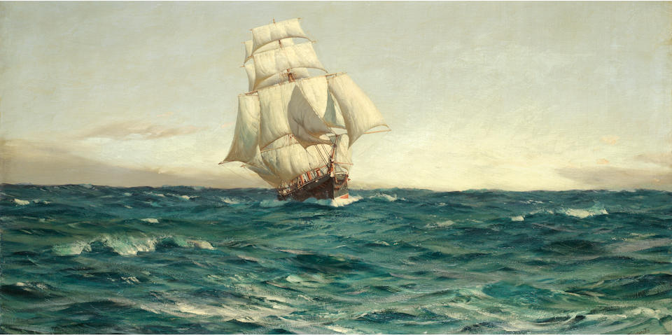 Thomas Jacques Somerscales (British, 1842-1927) An Old Time Cruiser