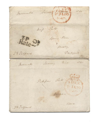 POSTAL HISTORY Two autograph letters signed by Serjeant Thomas Noon Talfourd, the judge, author and dedicatee of Pickwick,  Monmouth, 9 January 1840