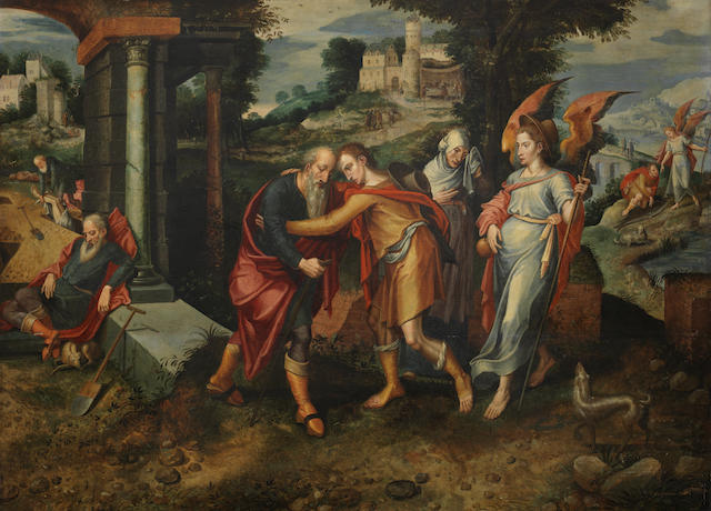 Master of the Prodigal Son (active Antwerp, mid 16th Century) The Story of Tobias