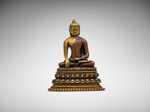 A Pala-style bronze figure of a seated Shakyamuni