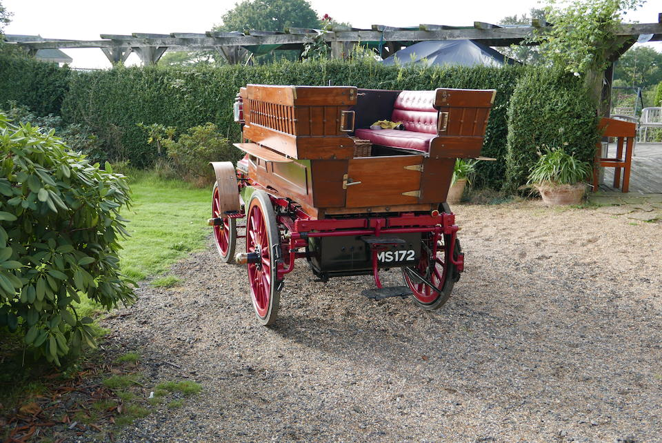 1897 Daimler 4HP Twin-Cylinder Rougemont Wagonette  Chassis no. 1197