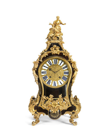 A Louis XIV gilt bronze mounted boulle tortoiseshell bracket clock and bracketthe movement signed F. Lenoir, Paris (2)