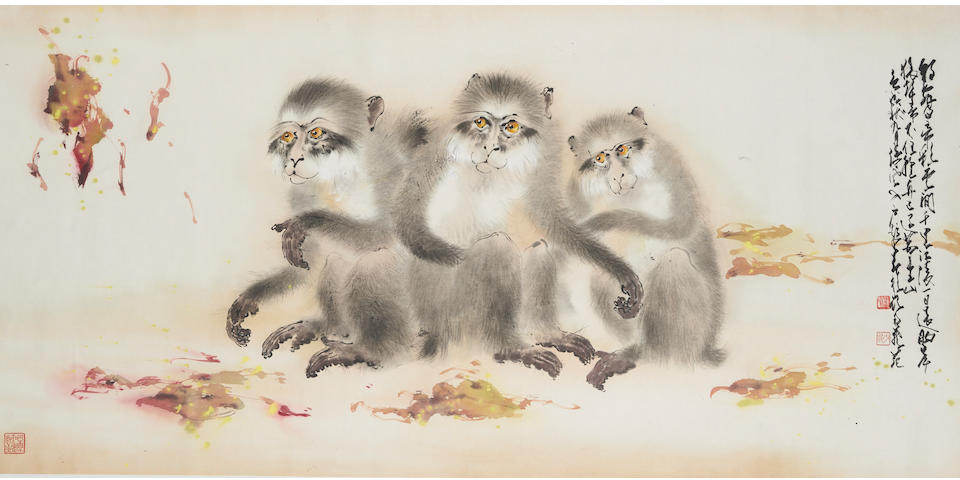 Zhao Shaoang (1905 - 1998) Monkeys