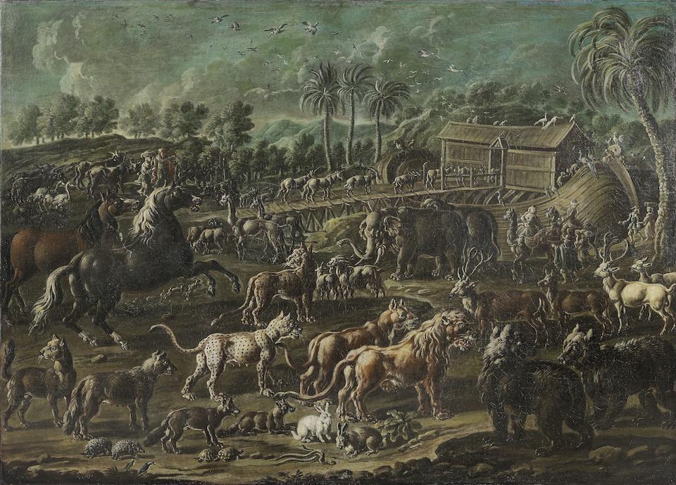 Cajetan Roos, called Gaetano de Rosa (Rome 1690-1770 Vienna) The Creation of the Animals; and Noah's Ark  (2) unframed