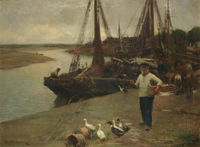 Walter Frederick Osborne RHA, ROI (Irish, 1859-1903) When the boats come in