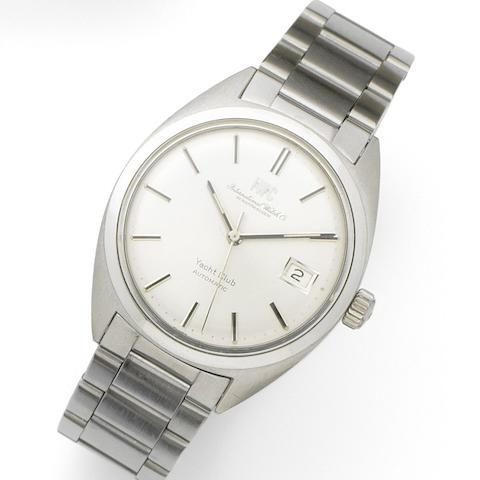 IWC. A stainless steel automatic calendar bracelet watch Yacht Club, Case No.2073996, Movement No.2071748, Circa 1970
