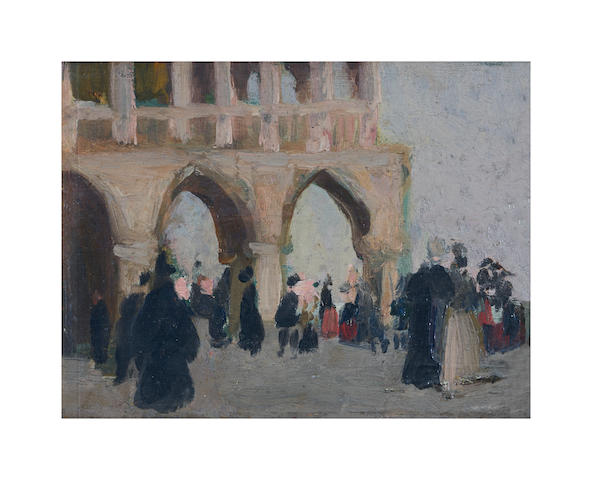 Emanuel Phillips Fox (1865-1915) Doges Palace, Venice, c.1907