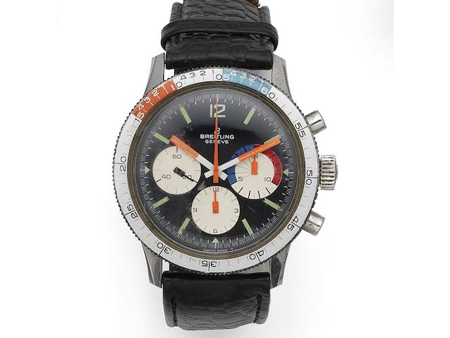 Breitling. A stainless steel manual wind yacht timing chronograph wristwatch Co-Pilot, Ref:7650, Case No.1276456, Circa 1965
