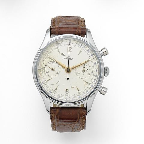 Swiss. A stainless steel manual wind chronograph wristwatch Case No.2986, Circa 1950