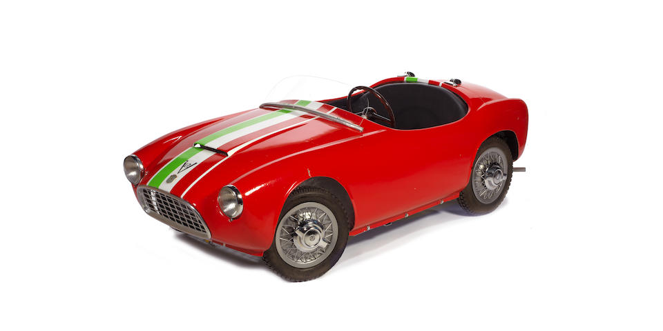 A rare 'V12 Bimbo Racer' two seat electric powered child's car by SILA of Turin, Italian, circa 1961,