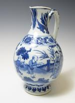 A blue and white ewer Transitional, 17th century