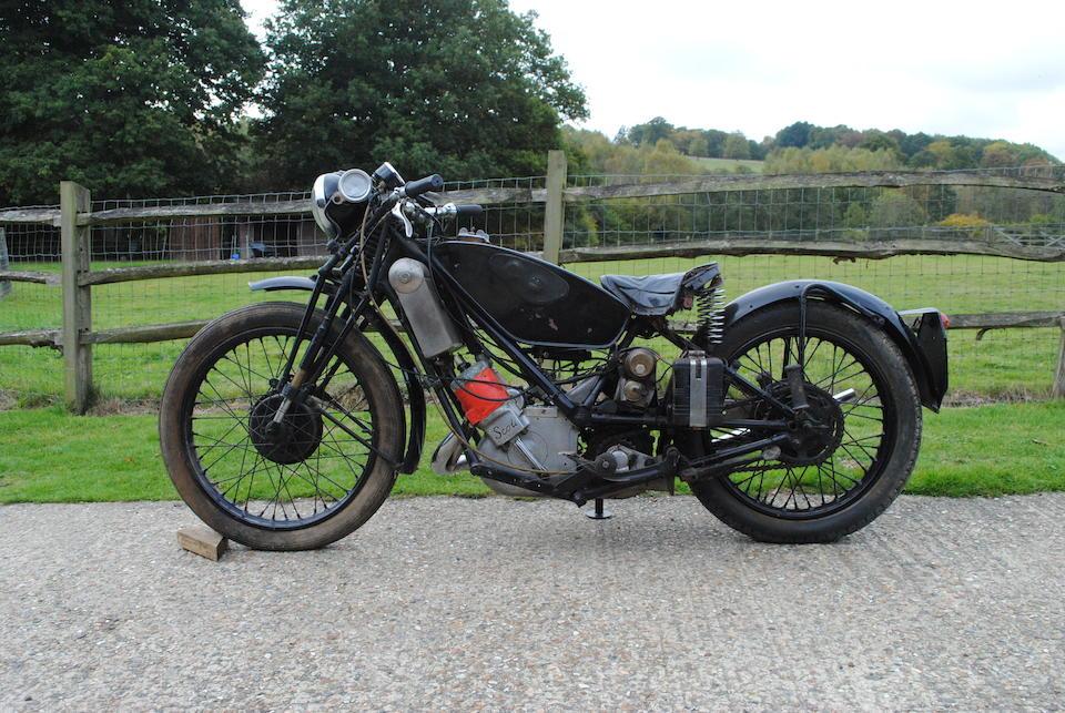 c.1929 Scott 596cc 'TT Replica' (see text)  Frame no. 2773 Engine no. PY3385