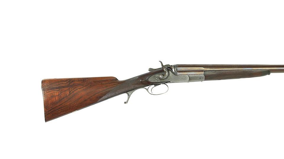 A 10-bore single-barrelled hammer wild-fowling gun by George Burns