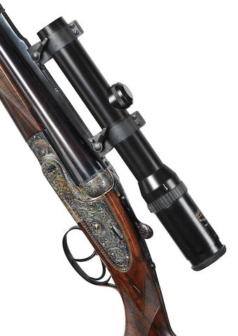 A very fine .375(H&H Magnum Flanged) 'Royal' sidelock ejector rifle by Holland & Holland, no. 35606  In its brass-mounted oak and leather case with canvas cover