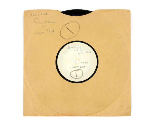 David Bowie: A rare acetate recording of 'I Don't Mind' by Davy Jones And The Lower Third, 1965,