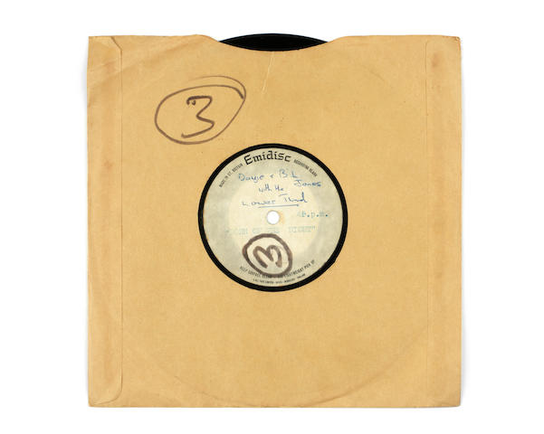 David Bowie: A rare acetate recording of 'Born Of The Night' by Davy Jones And The Lower Third, 1965