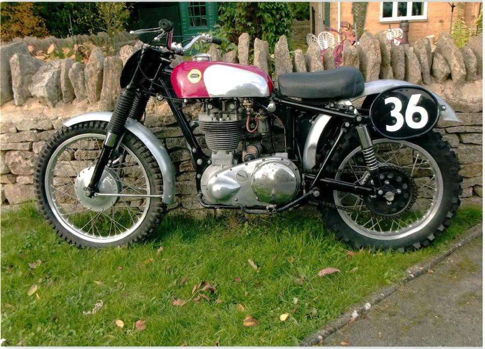 The ex-works, Ron Langston,c.1958 Ariel 350cc HS3 Scrambler
