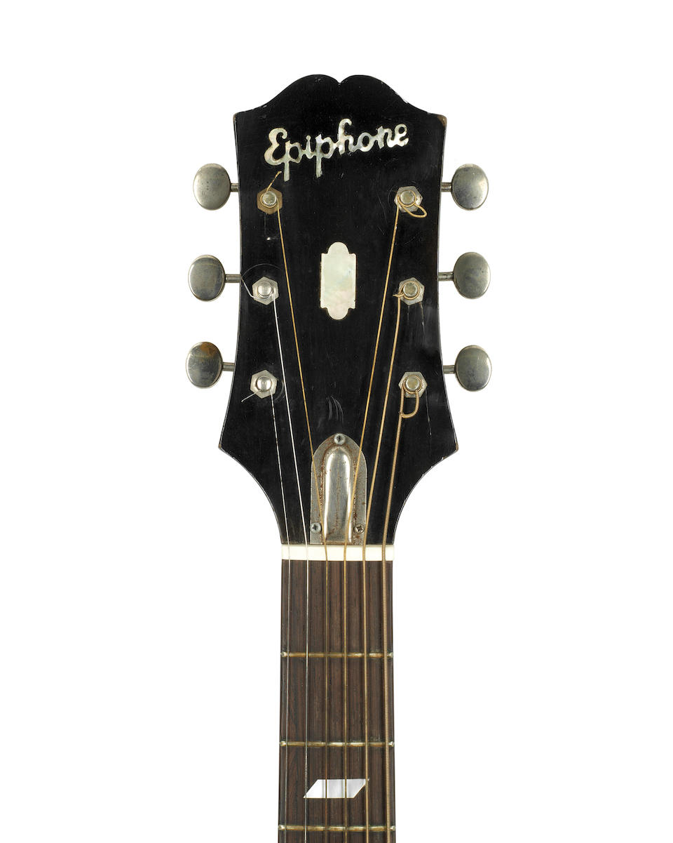 Jimi Hendrix: An Epiphone FT 79 acoustic guitar, 1951,
