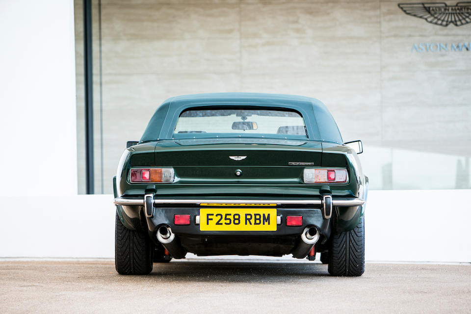 1989 Aston Martin V8 Vantage Volante 'Prince of Wales' 7.0-Litre Convertible  Chassis no. SCFCV81C6KTR15749
