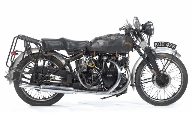 1949 Vincent-HRD 998cc White Shadow Series-C Project Frame no. RC4026B Engine no. F10AB/1A/2126