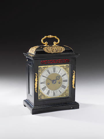 A late 17th century ebony veneered table clock with pull quarter repeat Joseph Knibb, London