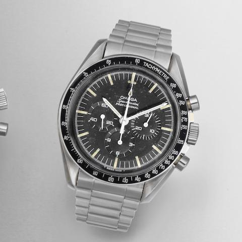 Omega. A stainless steel manual wind chronograph bracelet watch Speedmaster Professional, Ref:105.012-66, Movement No.24950820, Circa 1966