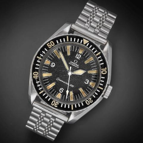 Omega. A stainless steel military issue automatic bracelet watch Seamaster 300, Ref:165.024, Movement No.24733196, Produced in May 1967
