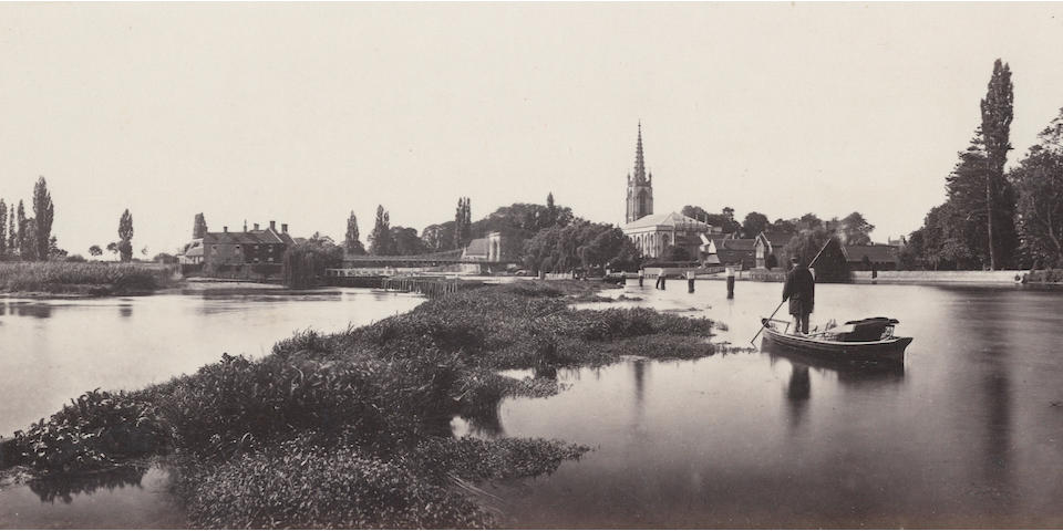 PROUT (VICTOR ALBERT) The Thames from London to Oxford in Forty Photographs. First [-Second] Series in 1 vol., FIRST EDITION, Virtue and Company, [1862]