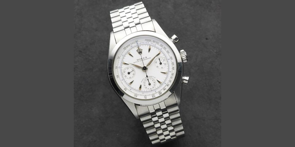 Rolex. A stainless steel manual wind chronograph bracelet watch 'Pre-Daytona' Oyster Chronograph, Ref:6234, Serial No.223***, Circa 1956