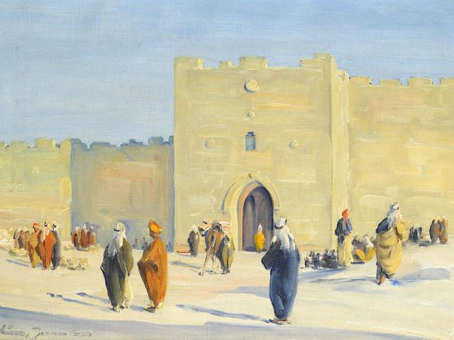 Ludwig Blum (Israeli, 1891-1975) Herod's Gate, Jerusalem