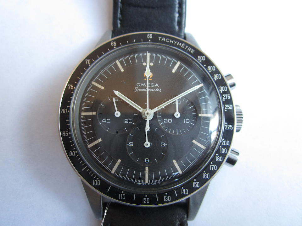 Omega. A stainless steel manual wind chronograph wristwatch Speedmaster 'Ed White', Ref:ST105.003-65, Movement No.24531128, Circa 1965