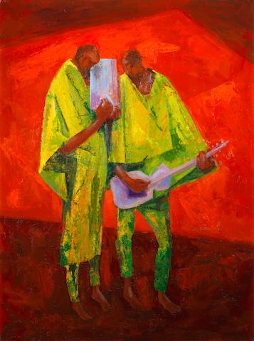 Yusuf Adebayo Cameron Grillo (Nigerian, born 1934) The Duet