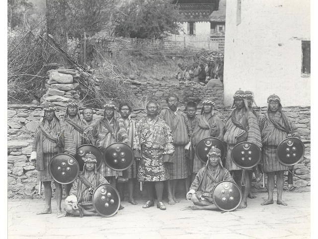 BHUTAN AND SIKKIM WHITE (JOHN CLAUDE) Album containing 37 large photographs by White taken in 1905, c.1907