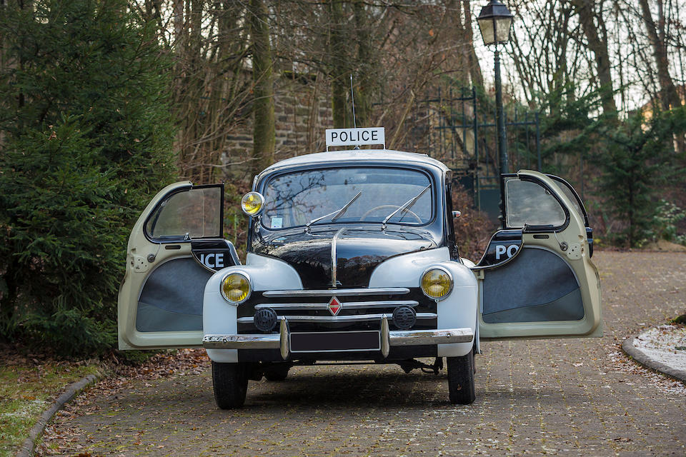 Former Parisian Police car and starred in the movie 'L'ours' 1960,1955 Renault  4cv 'PIE'  Chassis no. 2.262.123 Engine no. 23537