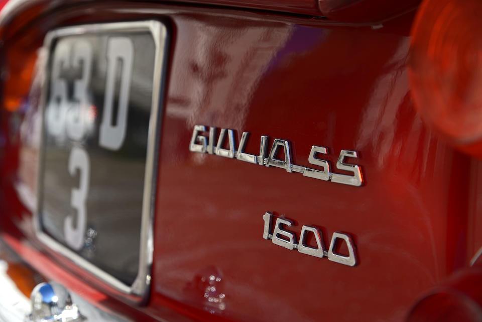 1963  Alfa Romeo  Giulia SS  Chassis no. AR 380106 Engine no. AR 0012100068