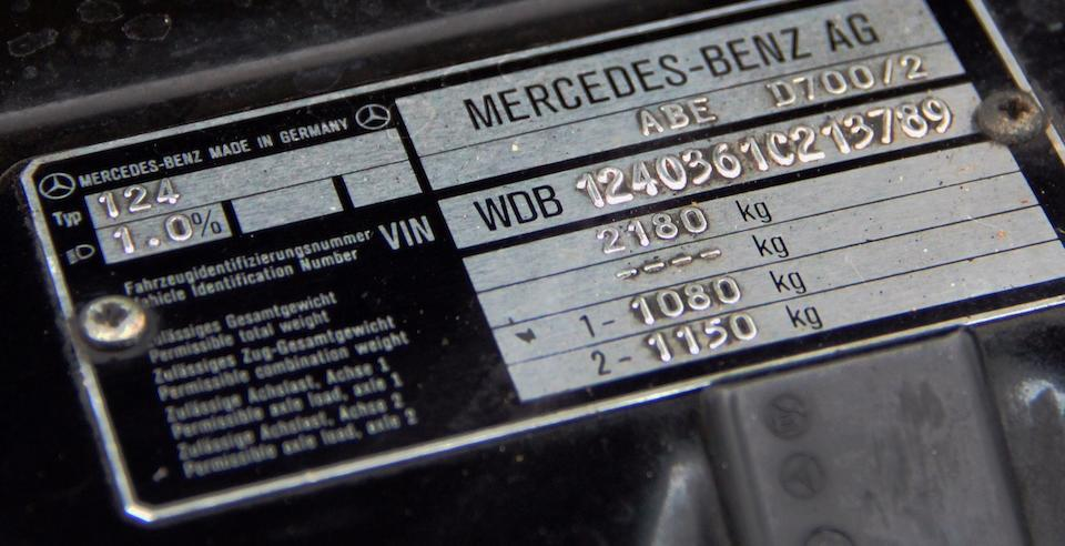 1995 Mercedes-Benz E 500 Limited  Chassis no. WDB1240361C213789 Engine no. 11997412010511