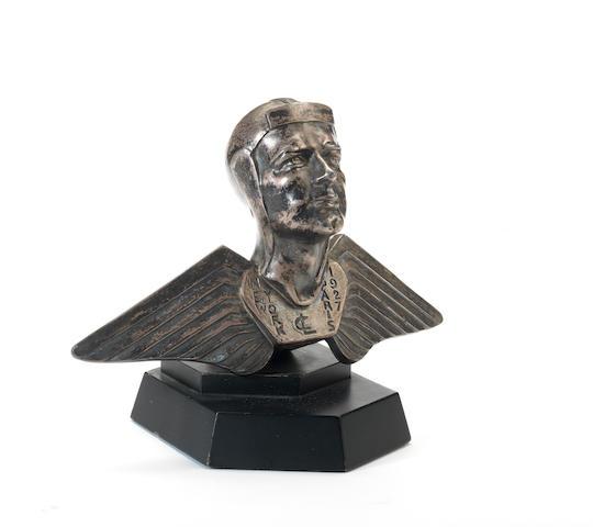 A rare 'Charles Lindburgh 1927 New York to Paris' mascot by E. Cavacos, 1927,