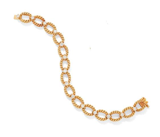 A diamond-set bracelet, by Boucheron,