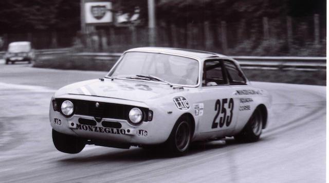 Ex-Scuderia Monzeglio Corse, Luigi Pozzo ; victorieuse en Gran Turismo 2 au championnat d'Italie en 1971,Alfa Romeo 1300 GTA Junior 1968