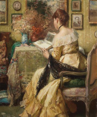 Fernand Toussaint (Belgian, 1873-1955) Femme lisant