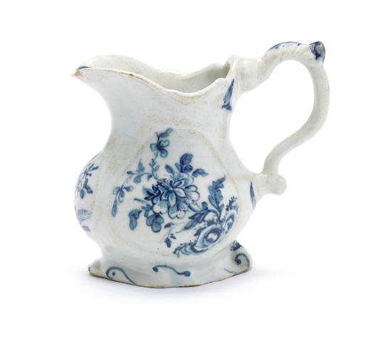 An exceptional Limehouse cream jug, circa 1746-48