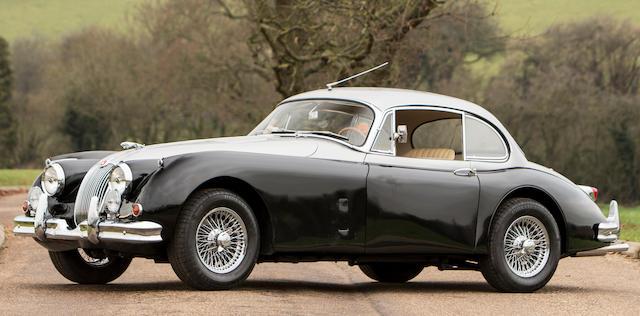 Jaguar XK150 3,8 litres coupé 1957  Chassis no. S834413 BW Engine no. V 1545 8